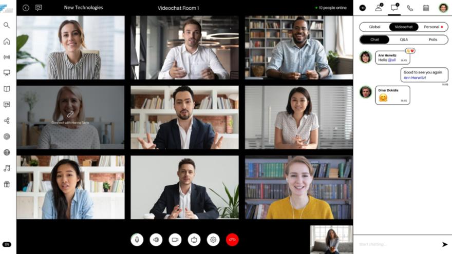 Videocall mit Personen