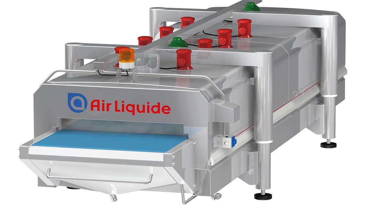 Air Liquide hat verschiedene Anlagen im Programm, um weiche oder lose rollende Produkte durch Kälte zu stabilisieren.