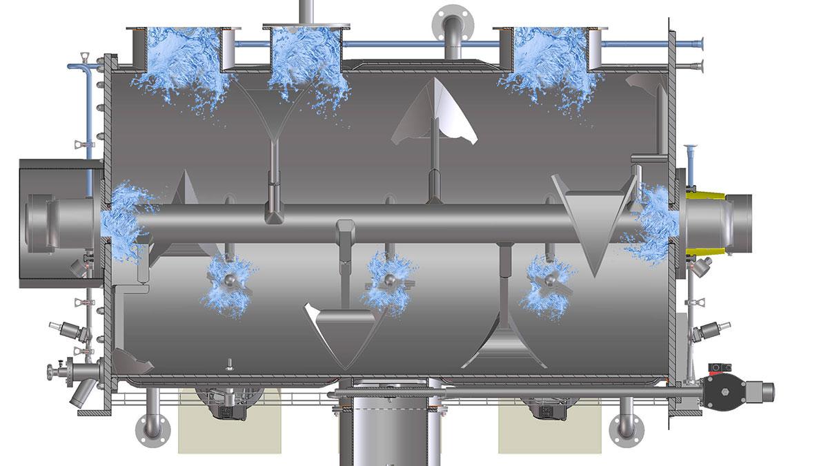 Lödige hat verschiedene Anlagen im Programm, die auf einem ausgeklügelten Hygienic Design basieren.