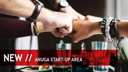 A special forum for start-ups from the food & beverage section: the Anuga Start-up Area
