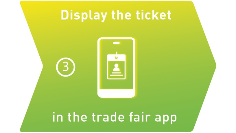 Display the ticket in the trade fair app