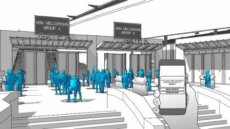 Entrance management in event locations