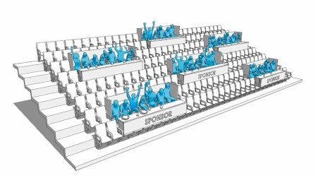 Seat occupancy in the stadium during the Corona Pandemic