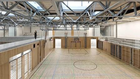 School centre sports hall in Gloggnitz, Austria