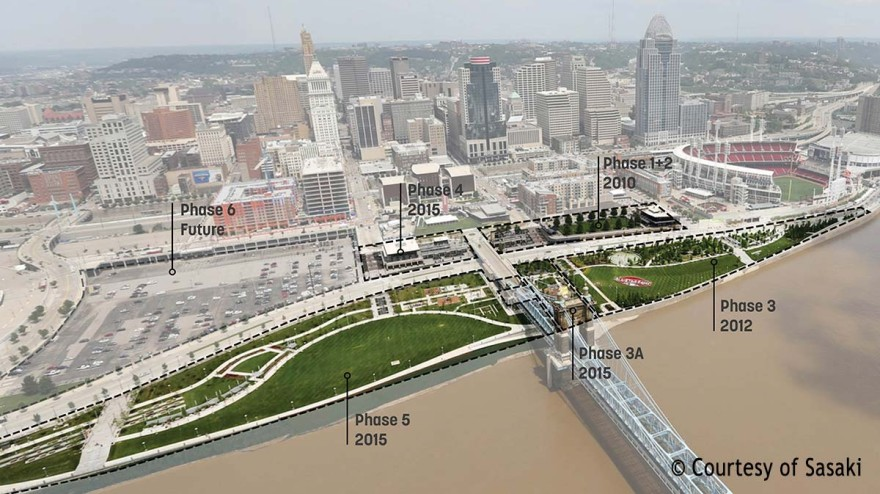 Planning phases of the Smale Riverront Park
