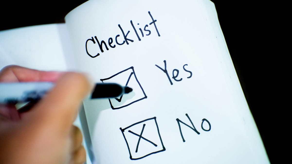 Checkliste für Aussteller