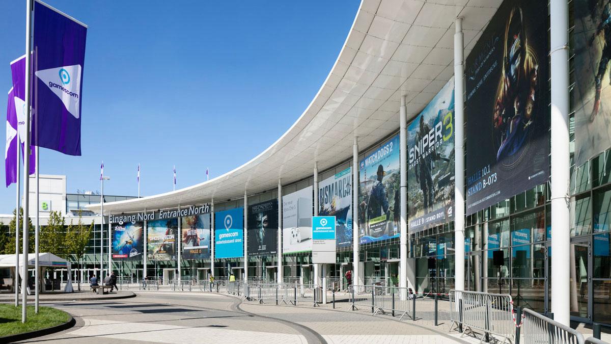 Werbeflächen bei der Koelnmesse - Banner Eingang Nord