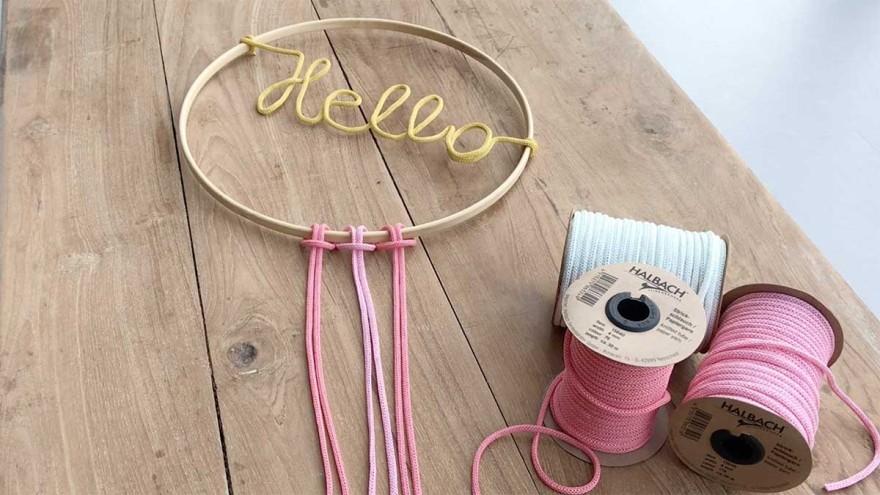 Jutta Nowak: Knitted paper tube 6