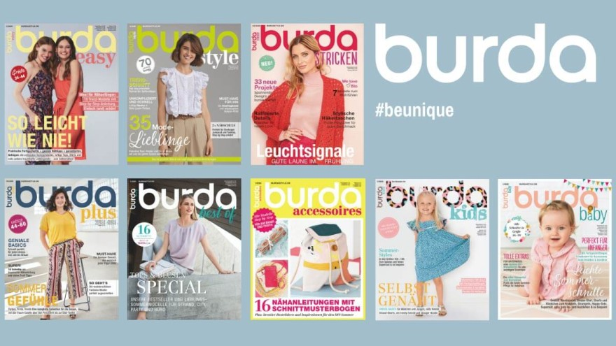 Verschiedene burda Magazine