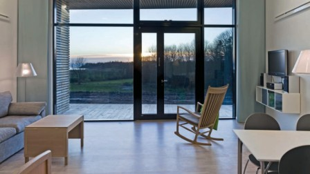 The designer interior of the hospice on Denmark's Djursland peninsula