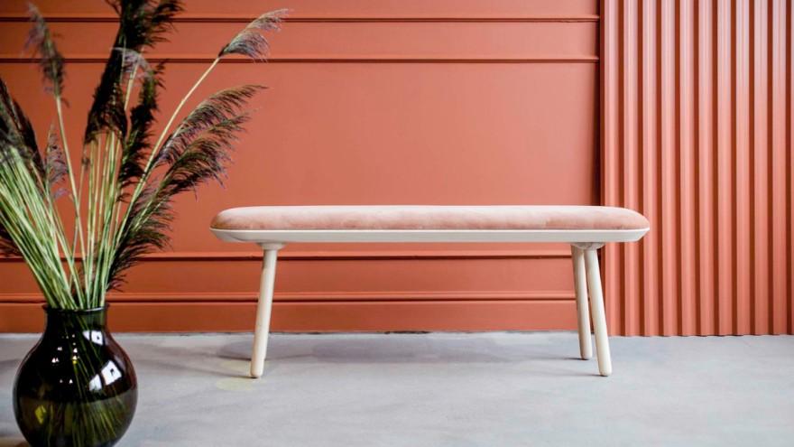 Upholstered seating furniture Naïve bench from Emko