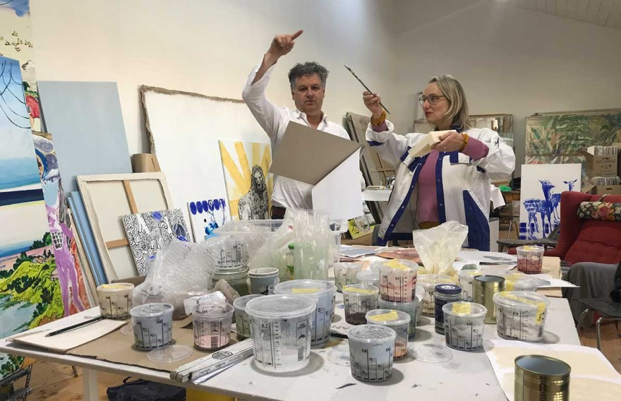 Architect Christian Heuchel and artist Kirsten Lampert