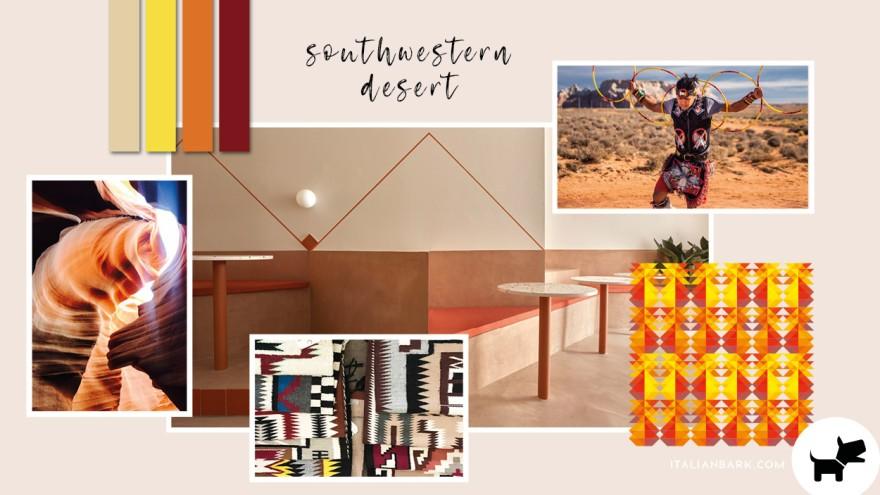 Moodboard #4 / Southwestern Desert color trend for 2022