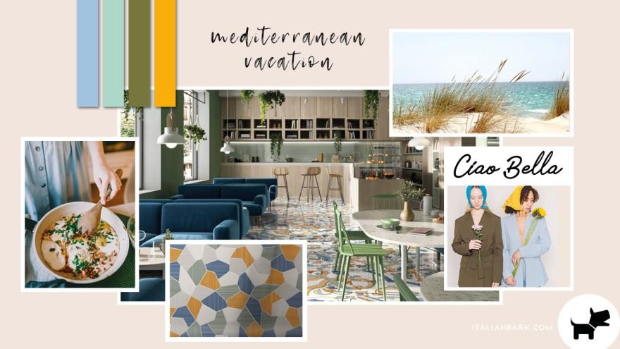 Moodboard #5 / Mediterranean Vacation - 2022 Pantone Interior Color Trends