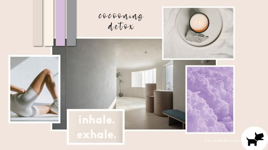 Moodboard #6 / Cocooning Detox - 2022 Pantone Interior Color Trends