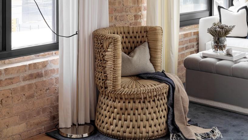Dieser handgefertigte Stuhl der Designerin Brynn Olson wurde in der Tradition der Maya gefertigt.