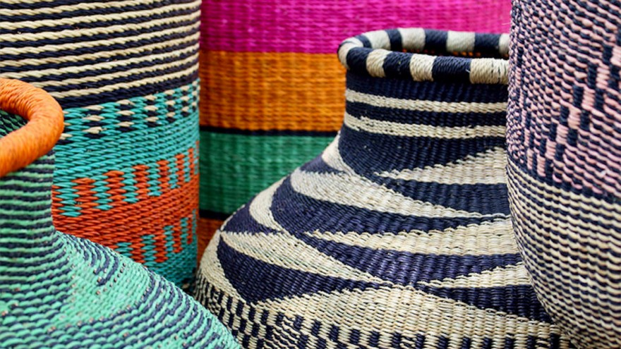 These woven baskets by Baba Tree / Goodee.
