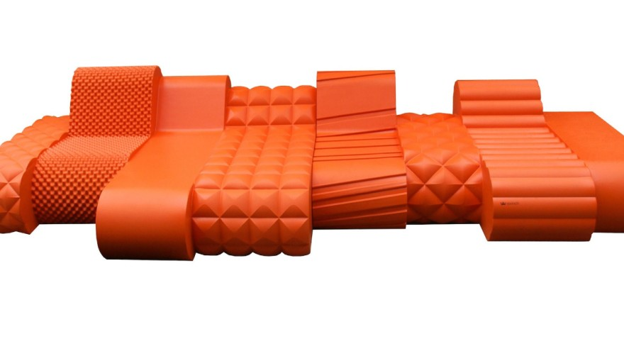 """90s furniture """"Orange-Beast"""" from Sixinch"""