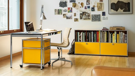 Furnishing with the trend colour yellow: modular sideboards from USM Haller