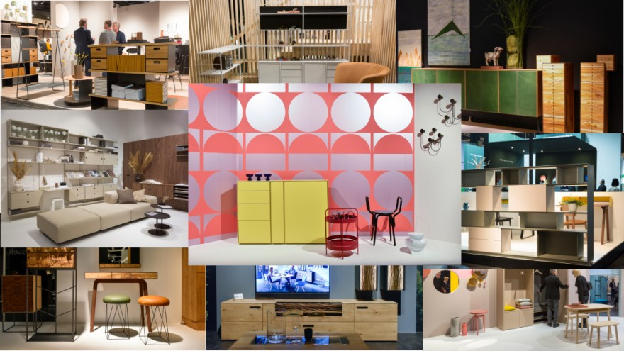 Shelfs, boards and cupboards at imm cologne 2020