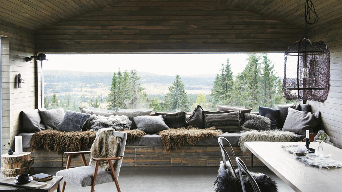 A window seat in Marianne Vigtel Hølland's cabin