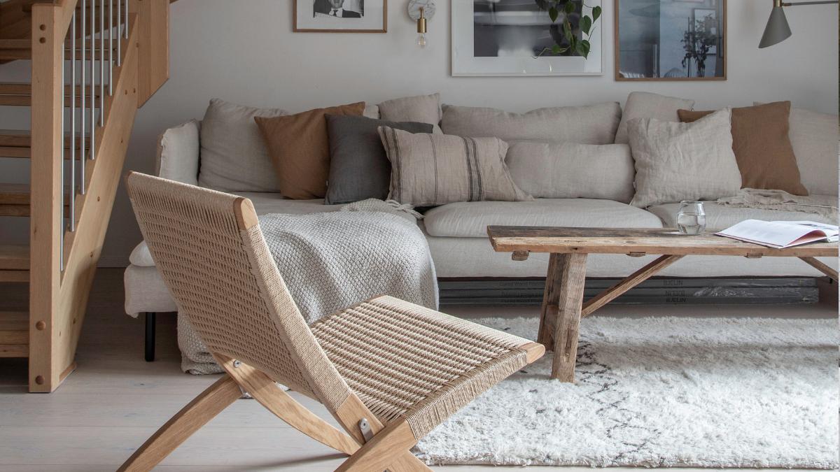 A handmade rug from family-run Austrian brand Natur Pur