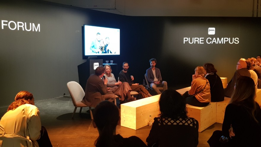 The panel discussion at the Pure Campus Forum.