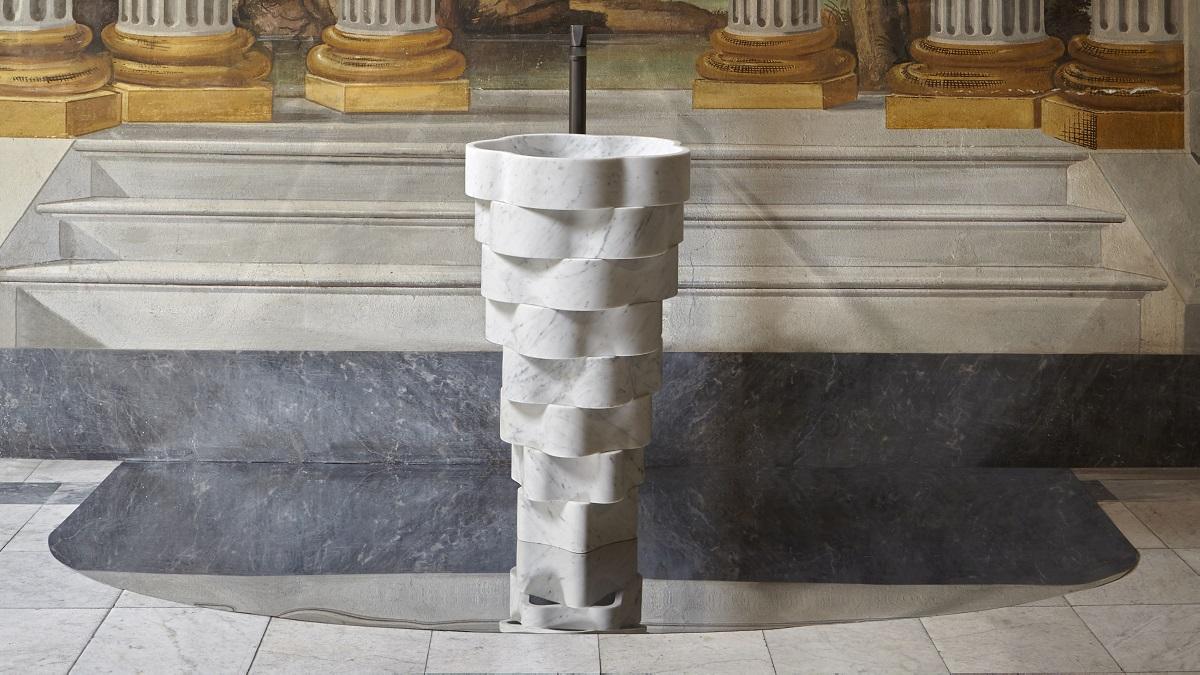 """Unusual bathroom furniture """"Intreccio"""" by Antonio Lupi Design S.p.A"""