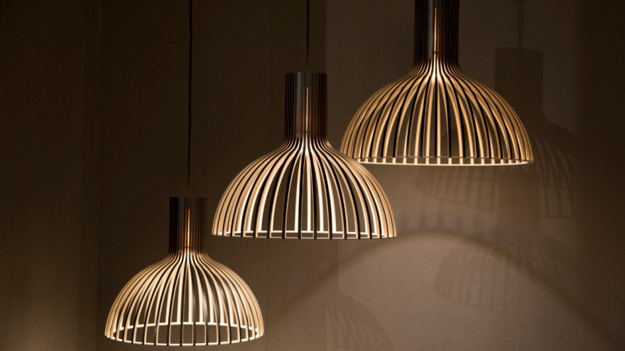 Pendant lamps from Secto.