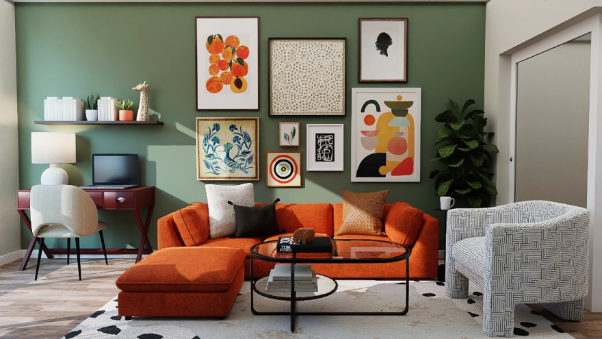 Maximalist living room from Spacejoy on Unsplash