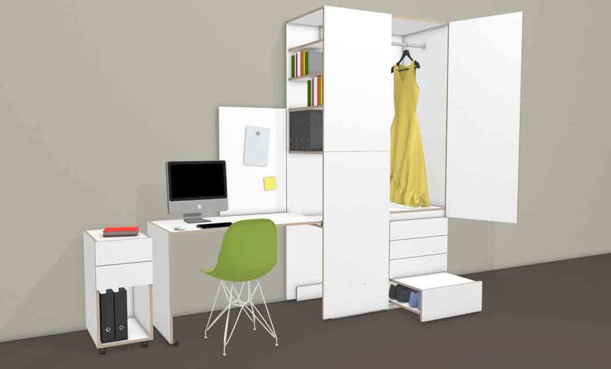 Work-Dress from Michael Hilgers as a closet and mini office