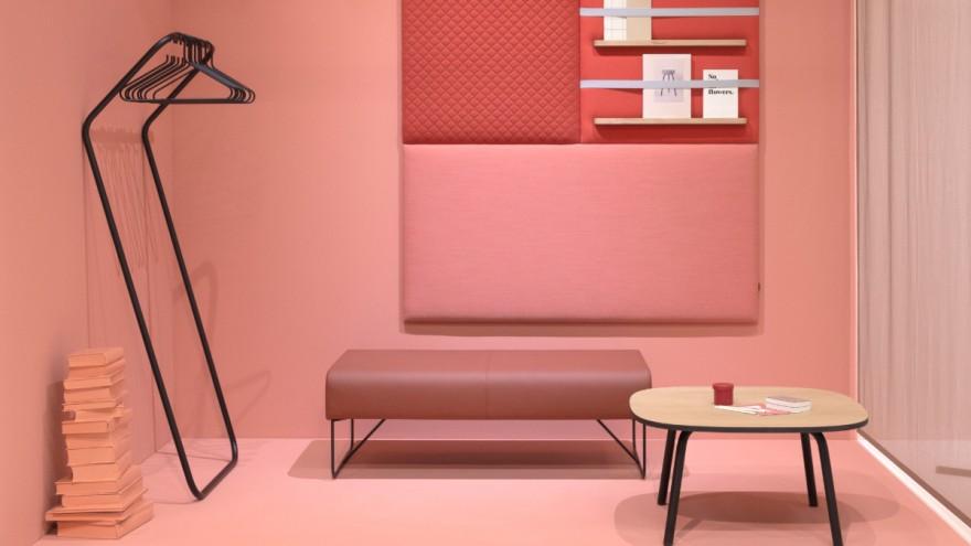 Pink pastel room in a color palette