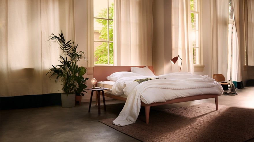 Fully recyclable bed from Auping