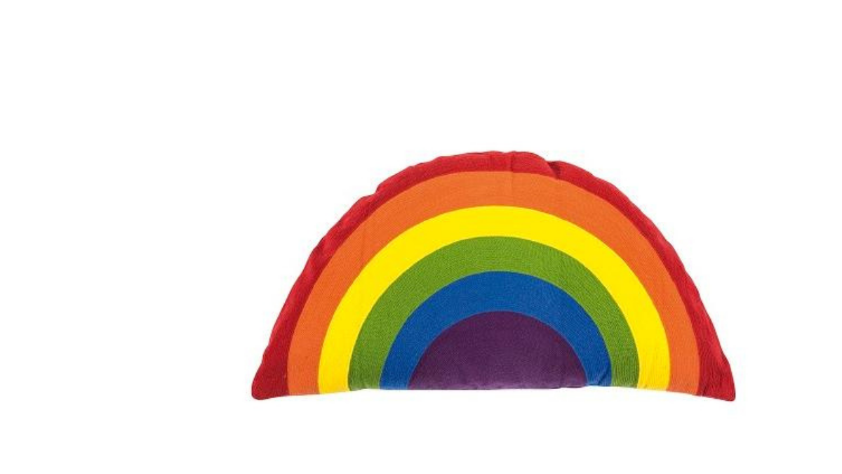Cushion in rainbow colors and shape
