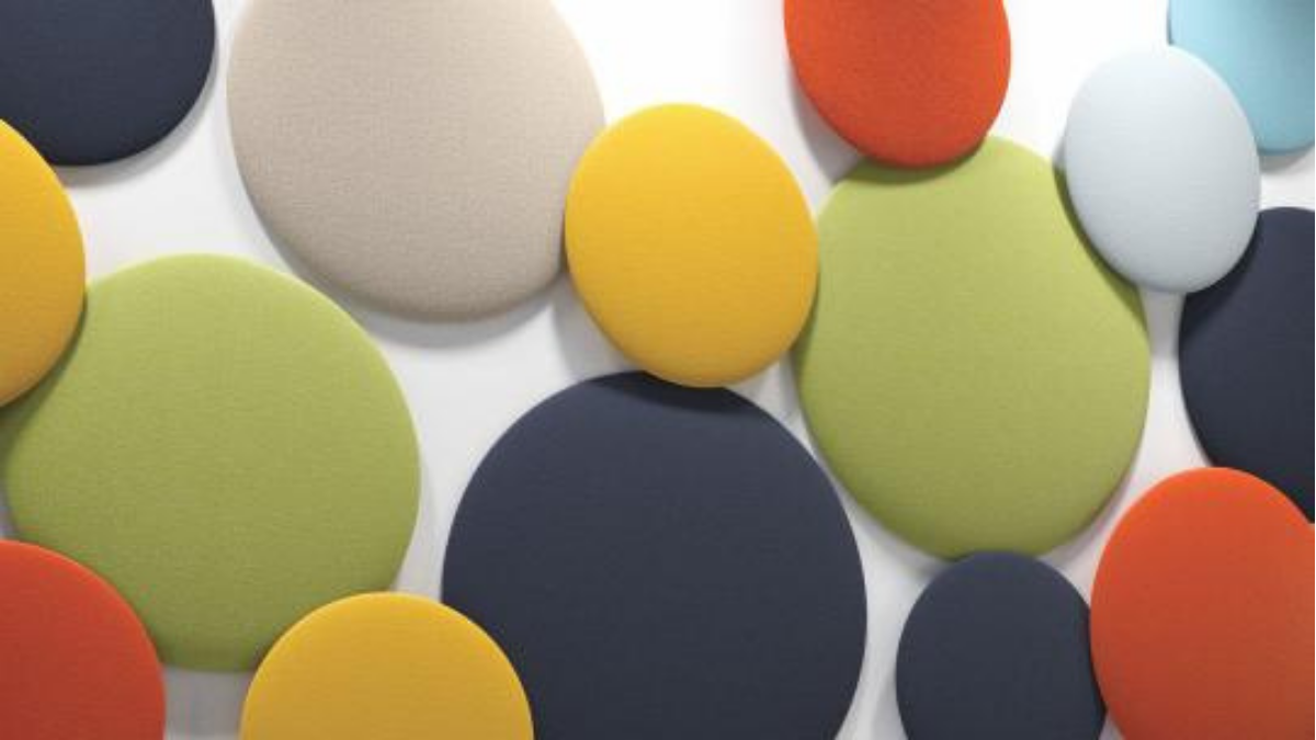 Soundproofing wall decoration in bright colors from REAL PIEL