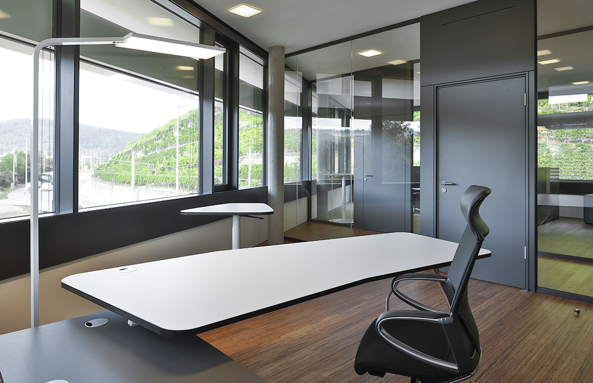 Office with smart lighting