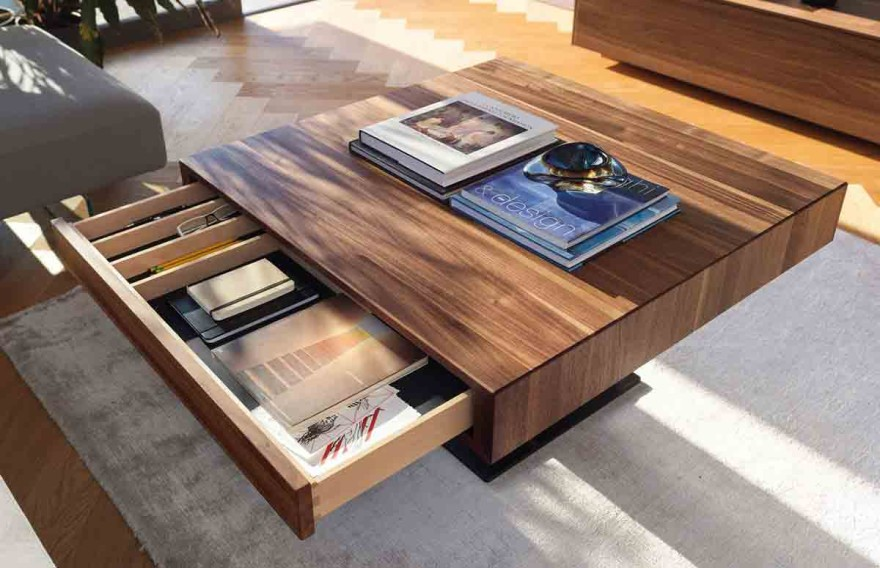 lift soft-touch coffee table from TEAM 7