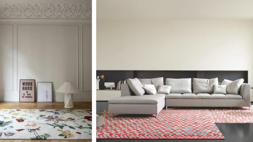 großflächige Muster auf Teppichen
