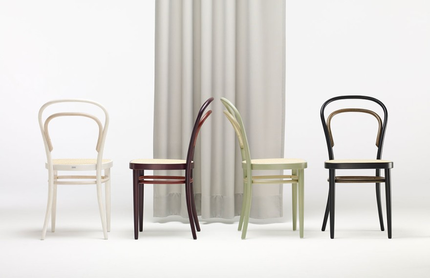 The Thonet Chair 214 shows classic colours in a modern look