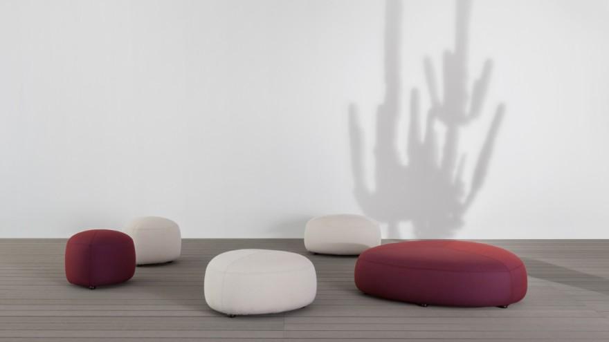 "Outdoor poufs ""KIPU"" from Lapalma in modern design"