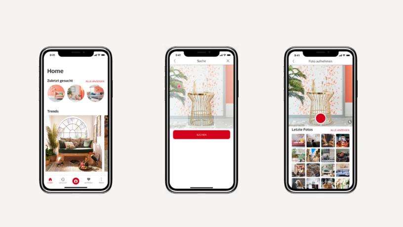 Handy mit der Visual Search App alike von OTTO.