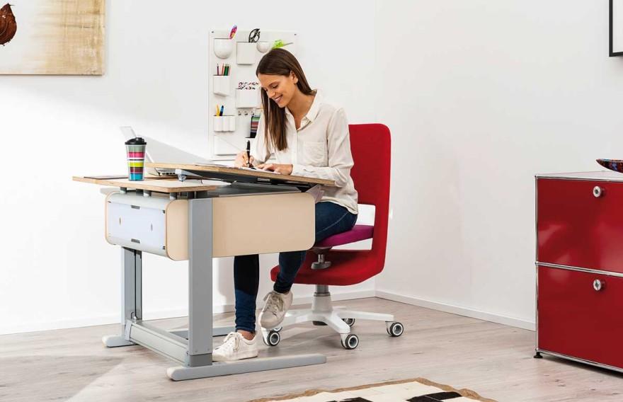 Solid wood desk for children