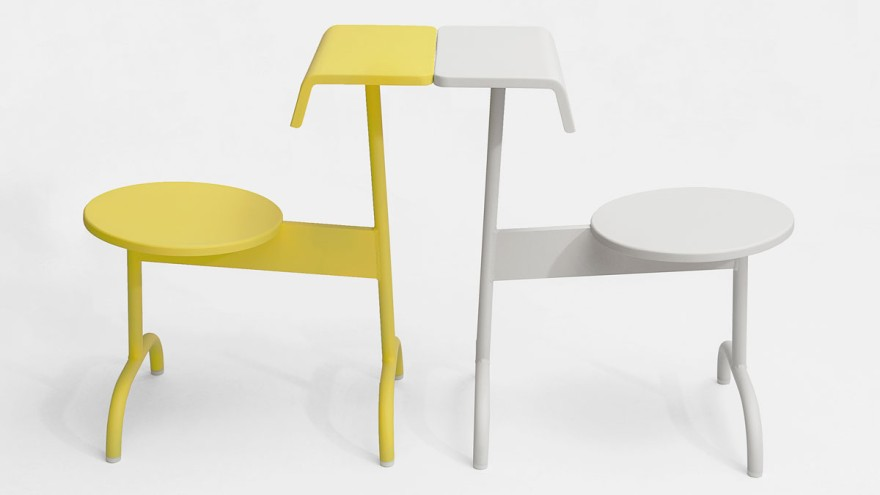TLV's chair is an outdoor chair that can be used in multiple positions.