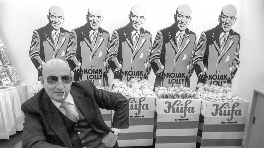 Kuefa Werk advertises its lollies in 1977 with the well-known TV character Kojak at ISM
