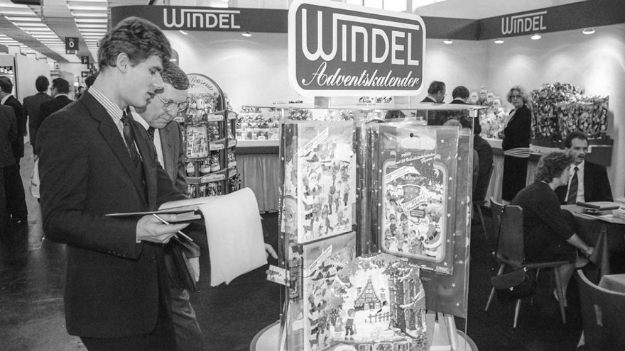 Windel Advent calendars were much sought-after products in 1987 at ISM