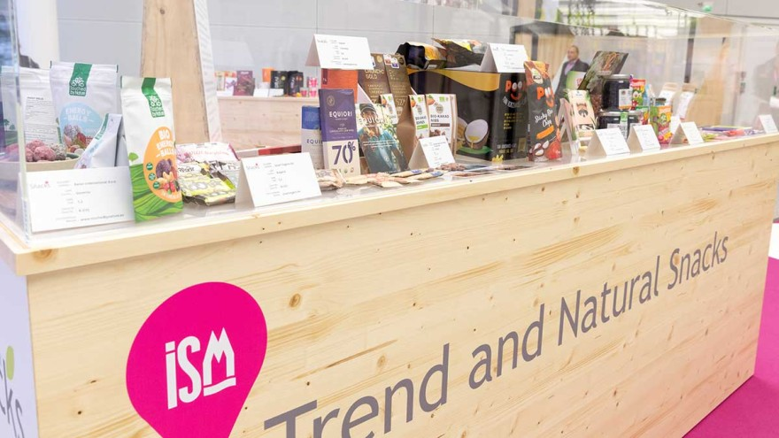 Trend and Natural Snacks Special Exhibitions showed natural and sustainable products at ISM 2020