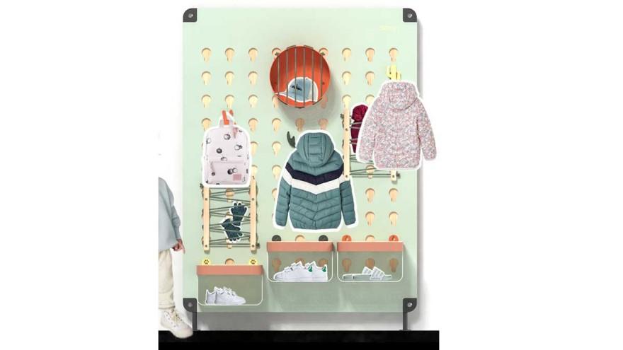SDEGN – the modular children's coat rack ©Lukas Konrad/Nina Hacker