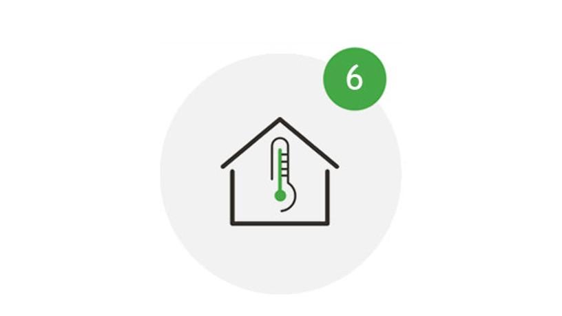 Visit Save Icon Bei Fieber zu Hause bleiben