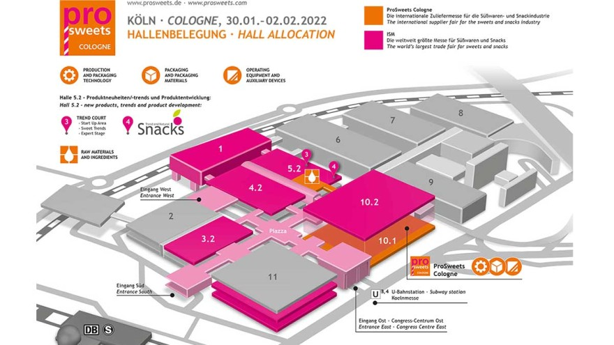 Hallenplan ProSweets Cologne